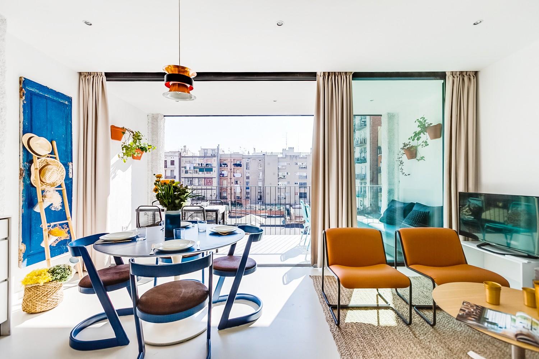 apartments in barcelona - terrace suite